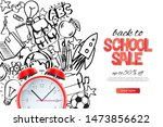 back to school sale template.... | Shutterstock .eps vector #1473856622
