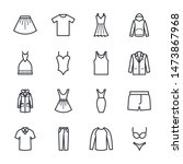 Stock vector set of clothes icon template color editable fashion pack symbol vector sign isolated on white 1473867968