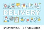 delivery word concepts banner....