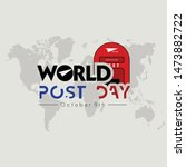 world post day logo with post... | Shutterstock .eps vector #1473882722
