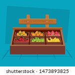 healthy fruits and vegetables... | Shutterstock .eps vector #1473893825