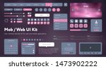 flat mobile web ui kit.... | Shutterstock .eps vector #1473902222
