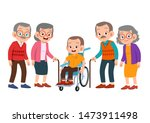 senior women and men set bundle ... | Shutterstock .eps vector #1473911498