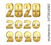 happy new year number 2020 set. ... | Shutterstock .eps vector #1473916082