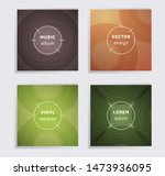 retro vinyl records music album ... | Shutterstock .eps vector #1473936095