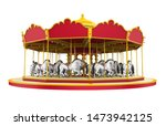 Carousel Horse Isolated. 3d...