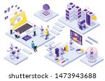 robotic automation isometric... | Shutterstock .eps vector #1473943688
