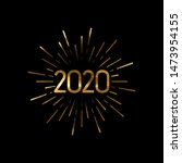 happy 2020 new year. holiday... | Shutterstock .eps vector #1473954155