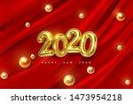 happy new 2020 year. vector... | Shutterstock .eps vector #1473954218