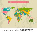editable world map with all...   Shutterstock .eps vector #147397295
