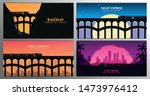 set of travel by train banners. ... | Shutterstock .eps vector #1473976412