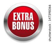 big red metallic extra bonus... | Shutterstock .eps vector #147398366