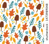 vector seamless pattern with... | Shutterstock .eps vector #1473989048