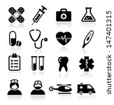 collection of medical icons | Shutterstock .eps vector #147401315