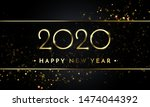 happy new year of glitter gold... | Shutterstock .eps vector #1474044392