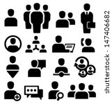 vector black people icons set | Shutterstock .eps vector #147406682