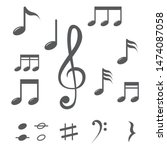 music note icon vector design | Shutterstock .eps vector #1474087058