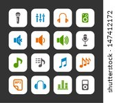 audio icons | Shutterstock .eps vector #147412172