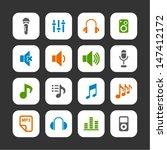 audio icons | Shutterstock .eps vector #147412172