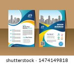 modern cover brochure flyer... | Shutterstock .eps vector #1474149818