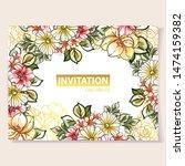 vintage delicate greeting... | Shutterstock .eps vector #1474159382