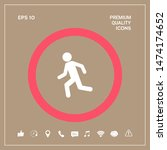 running man  run icon. graphic... | Shutterstock .eps vector #1474174652