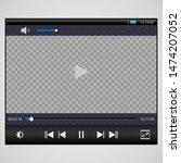 modern video player design... | Shutterstock .eps vector #1474207052