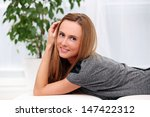 beautiful attractive young... | Shutterstock . vector #147422312