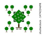 tree natural icons. flat... | Shutterstock .eps vector #1474224698