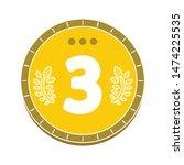 award winner icon. flat... | Shutterstock .eps vector #1474225535