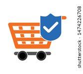 check shopping cart icon. flat... | Shutterstock .eps vector #1474226708