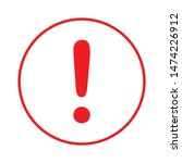 hazard warning attention sign... | Shutterstock .eps vector #1474226912