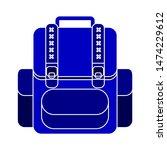 backpack school icon. flat... | Shutterstock .eps vector #1474229612