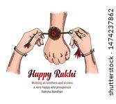 Happy Raksha Bandhan. Colorful...