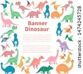 square banner from cartoon... | Shutterstock . vector #1474245728