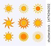 vector color sun icon sign... | Shutterstock .eps vector #1474246202