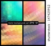 geometric patterns set.... | Shutterstock .eps vector #147425912