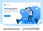 Photographer Concept Vector...