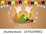 oktoberfest party illustration... | Shutterstock .eps vector #1474259852