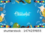 oktoberfest party illustration... | Shutterstock .eps vector #1474259855