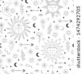 seamless doodle pattern with...   Shutterstock .eps vector #1474292705