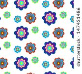 seamless pattern with flowers.... | Shutterstock .eps vector #147431486