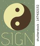 vector minimal design   taoist...   Shutterstock .eps vector #147432152