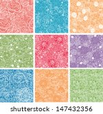 set of nine floral lace... | Shutterstock . vector #147432356