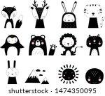 cute vector animals print in...   Shutterstock .eps vector #1474350095