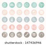 social icons   hand drawn design   Shutterstock .eps vector #147436946