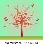 abstract tree in blossom with... | Shutterstock .eps vector #14743843