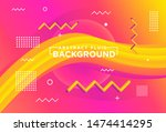 fluid background with memphis... | Shutterstock .eps vector #1474414295