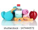 dumbbells isolated on white   Shutterstock . vector #147444572
