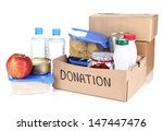 donation box isolated on white | Shutterstock . vector #147447476